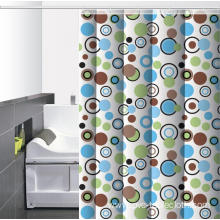 C Shaped Waterproof Bathroom printed Shower Curtain